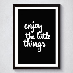 Quadro Decorativo Enjoy The Little Things