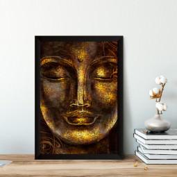 Quadro Decorativo Buddha Dourado