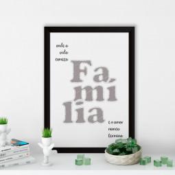 OUTLET - Quadro Decorativo Família