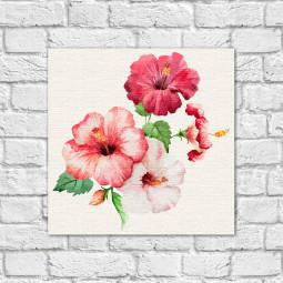 Quadro Decorativo Flor Hibisco - Em Canvas