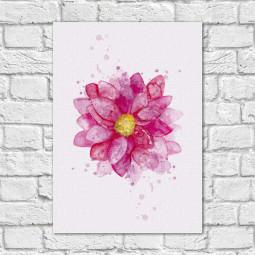 Quadro Decorativo Flor - Em Canvas