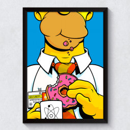 Quadro Decorativo Homer Simpson