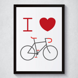 Quadro Decorativo I Love Bike