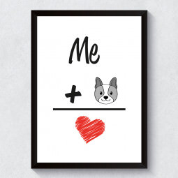 "Quadro Decorativo ""I Love Dog"""