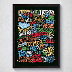 "Quadro Decorativo ""Imagine"" John Lennon"