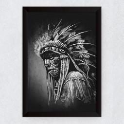Quadro Decorativo Índio Americano