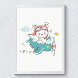 Quadro Decorativo Infantil Ursinho