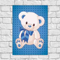 Quadro Decorativo Infantil Urso Menino - Em Canvas
