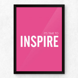 "Quadro Decorativo ""It's Time To Inspire"""
