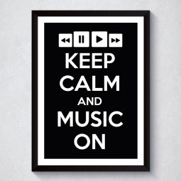 Quadro Decorativo Keep Calm And Music On