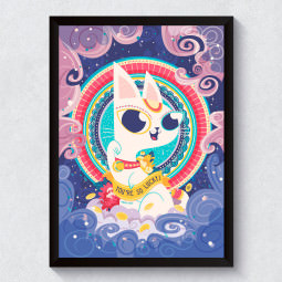 Quadro Decorativo Maneki Neko - Gatinho da Sorte