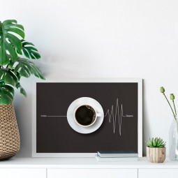 Quadro Decorativo Minimalista Antes e Depois do Café