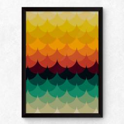 Quadro Decorativo Ondas Coloridas
