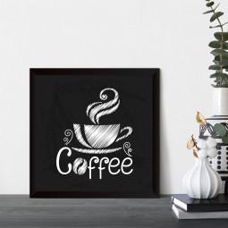 Quadrinho Decorativo Xícara Coffee
