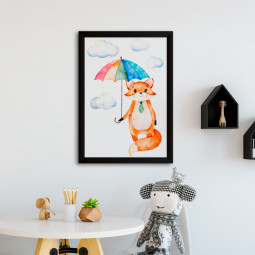 Quadro Decorativo Infantil Raposinha