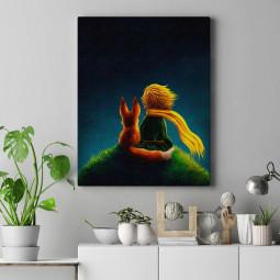Quadro Decorativo Pequeno Príncipe - Em Canvas