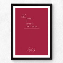 "Quadro Decorativo ""Design is Thinking Made Visual"""
