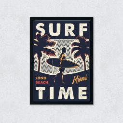 Quadro Decorativo Surf Time