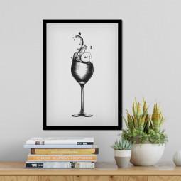 Quadro Decorativo Taça de Vinho