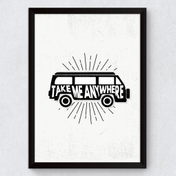 Quadro Decorativo Take Me Anywhere