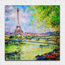 Quadro Decorativo Paris Torre Eiffel - Em Canvas