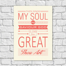 Quadro Decorativo The Sings My Soul, My Saviour God