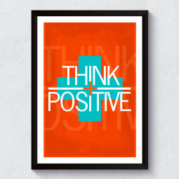 Quadro Decorativo Think Positive