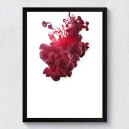 Quadro Decorativo Tinta Vermelha