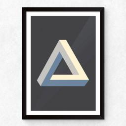 Quadro Decorativo Triângulo Ilusão de Óptica