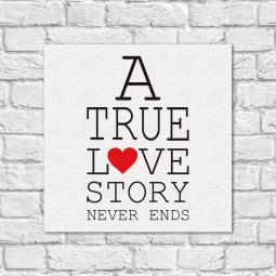 Quadro Decorativo A Tru Love Story
