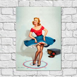Quadro Decorativo Vintage Pin Up