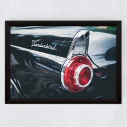Quadro Decorativo Vintage Tridente Pontiac Thunderbird