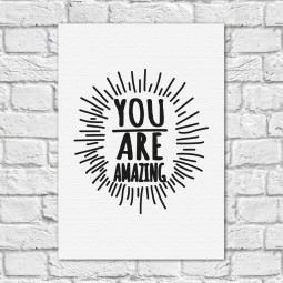 Quadro Decorativo You Are Amazing - Branco (Em Canvas)