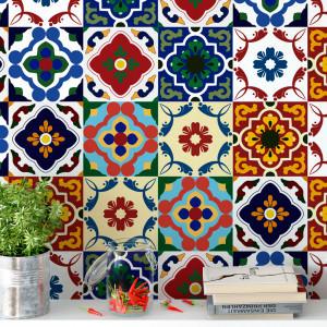 Adesivo para Azulejo Português Hidráulico Vintage Colorido