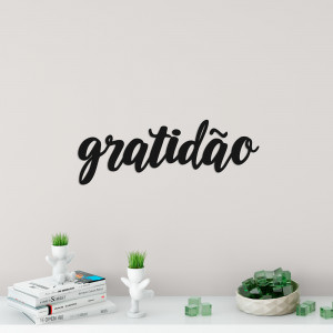 "Palavra Decorativa 3D ""Gratidão"""