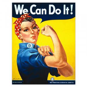 Poster We Can Do It! (Nós podemos fazer isso!).