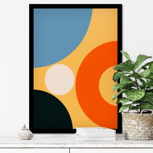 Quadro Decorativo Quadrados Abstrato Coloridos