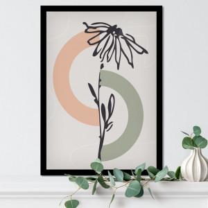 Quadro Decorativo Astronauta Abstrato Floral