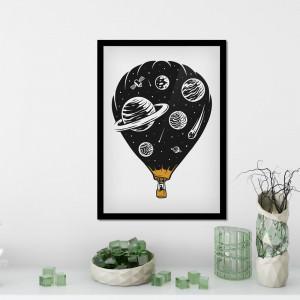 Quadro Decorativo Balão Espacial