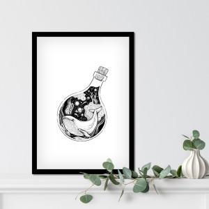 Quadro Decorativo Abstrato Baleia