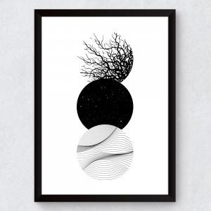 Quadro Decorativo Círculos Abstratos