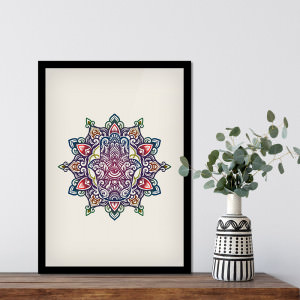 Quadro Decorativo Mandala Colorida