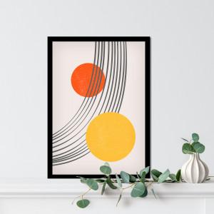 Quadro Decorativo Minimalista Chuva Abstrata