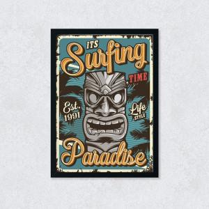 Quadro Decorativo Surfing Paradise