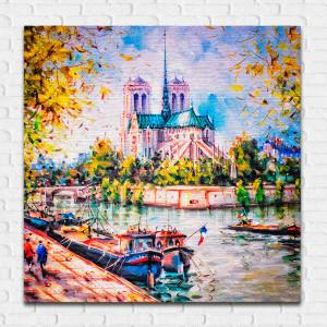 Quadro Decorativo Paris Notre Dame - Em Canvas