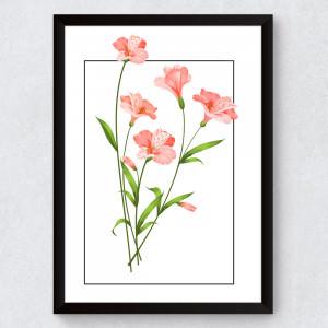Quadro Decorativo Flores Hibiscos
