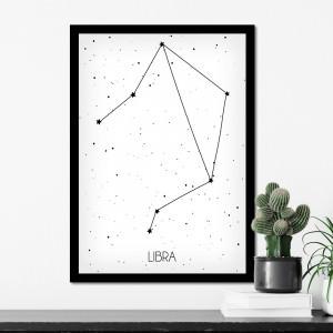 Quadro Decorativo Constelação com Signo Leão