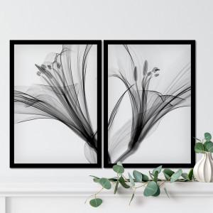 Conjunto de Quadros Decorativos Flora Abstrato