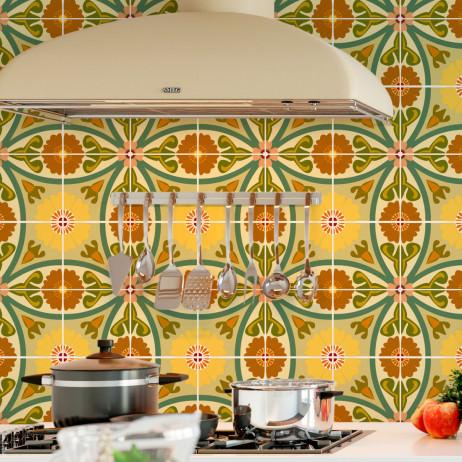 Adesivo para Azulejo Português Flores