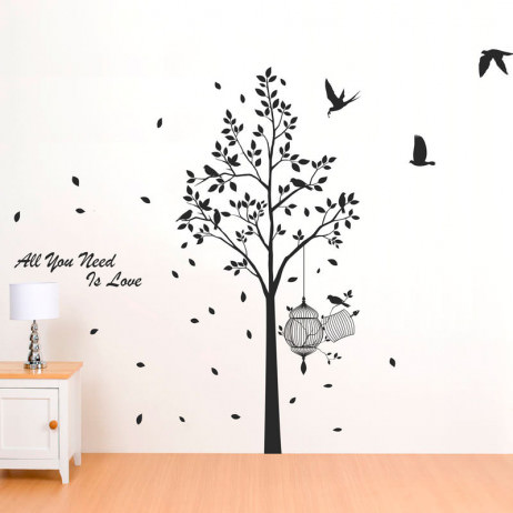 Adesivo de Parede Árvore All You Need is Love